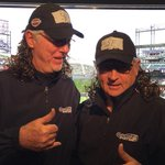 Its #MulletCap day at Coors Field. And also another rain delay ☔️ (via Duane Kuipers Instagram) #SFGiants http://t.co/ZHurw6eUhc