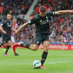 Steven Gerrard has marked his final #BPL appearance for Liverpool with his 120th goal. Its 5-1 to Stoke #STKLIV http://t.co/K4fPtOUWBg