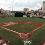 Getting ONEOK Field ready for #Big12BSB Championship title game. Cowboys vs Texas at noon on @FOXSports1 #okstate http://t.co/Y7qq2g2Ywm