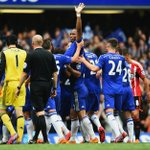 The King of Stamford Bridge is carried from the pitch... http://t.co/kFMFGiuSbV
