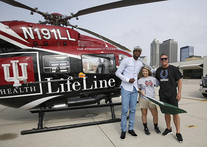 SURPRISE! @PatMcAfeeShow joined our #LifeLineFlyIn w/ @Pacers @Yg_Trece + patient Tori Gwyn #Indy500 @Colts http://t.co/ctgH1ZBQ9X