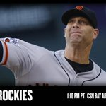 Tim Hudson goes for this 3rd win of 2015 as the #SFGiants take on the Rockies in Colorado. http://t.co/RLvDb50Bke http://t.co/b8shhgYAzW