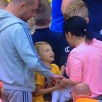 Nice to see this woman steal Beckfords shirt from a kid. #pnefc #brokenbritain http://t.co/xRxII0mZ8W