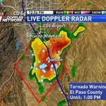 Tornado Warning for El Paso Co. Storm over Security Widefield CAPABLE of producing a tornado. Moving NE @ 25mph #cowx http://t.co/C84aQ0To4M