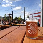 Beautiful day on the @WorthyBrewing patio! #COBW2015 @CentORBeerWeek http://t.co/sX28fWgSvm