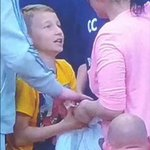 Name & shame her.. Literally grabbed Beckfords shirt off the lad and walked away grinning! #pnefc #PNE .. Cow! http://t.co/aALiUH89no