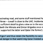 """Clinton email: #Qatar warns US against #Belhaj carping and making trouble in #Libya during """"weird meeting"""" http://t.co/ZXp9l6Yg5c"""
