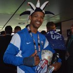 PHOTO: Man of the match & @pnefc hat-trick hero Jermaine Beckford with his medal, trophy & match ball! #PlayOffFinal http://t.co/UkbfZF1wxo