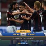 Fischio finale #MilanTorino 3-0. Protagonista del match è #ElShaarawy, autore di una doppietta #SkySerieA http://t.co/OPh2hSUikb