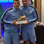 Congratulations to @aguerosergiokun for winning the Golden Boots. Deserved it!! http://t.co/9puLzGGpKW
