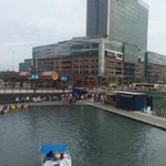 Beautiful day down at @CanalsideBflo. Great to see people enjoying the city! #Buffalo http://t.co/GQfI47EoR1
