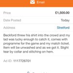 Now the cheeky cow puts it on gumtree saying her kid got shirt , Ive reported on gumtree http://t.co/MkHTiUQFkI
