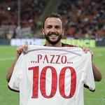 Happy 100th Serie A goal Pazzo! / Complimenti al Pazzo per il suo centesimo gol in Serie A! #MilanTorino http://t.co/IHm9X6yU9Y