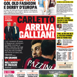 La #primapagina di oggi: caccia ad #Ancelotti, Galliani vola in Spagna. Intanto si rivede #elsharaawy #MilanTorino http://t.co/m2ZCq075UF
