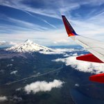 Sometimes, you get lucky on final approach into Portland, and get this view. Wow. Home Sweet Home. #mthood #portland http://t.co/0LOJ8KSwRp