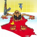 Anti-#ISIS cartoon exhibition opened in Tehran #Iran, 280 work from 40 countries displayed.  http://t.co/WA7RZfxMQZ http://t.co/nV9ZVho0eY