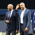 Derek Jeter and Mariano Rivera, grinning from ear to ear on #BernieDay. http://t.co/rb10FKRAgX