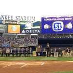.@bw51official is the center of attention. #BernieDay @yankees http://t.co/yfxKBv0zwO