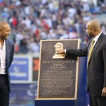 Derek and @bw51official check out Bernies plaque. #BernieDay http://t.co/X4OrOpHSAG