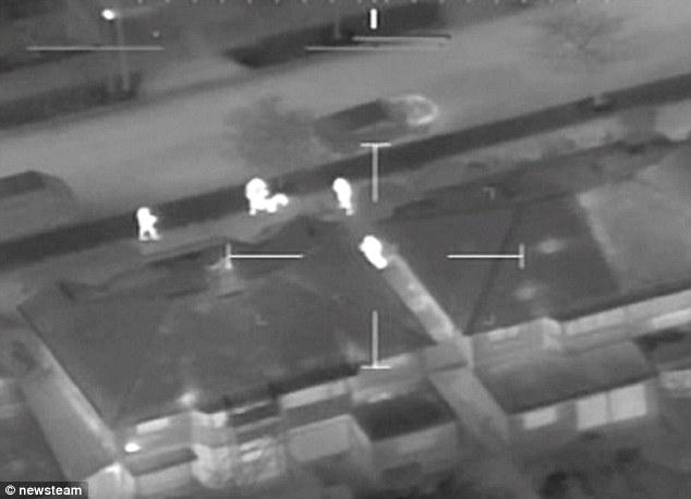 Thief Does His Best To Evade Police Helicopter S Thermal