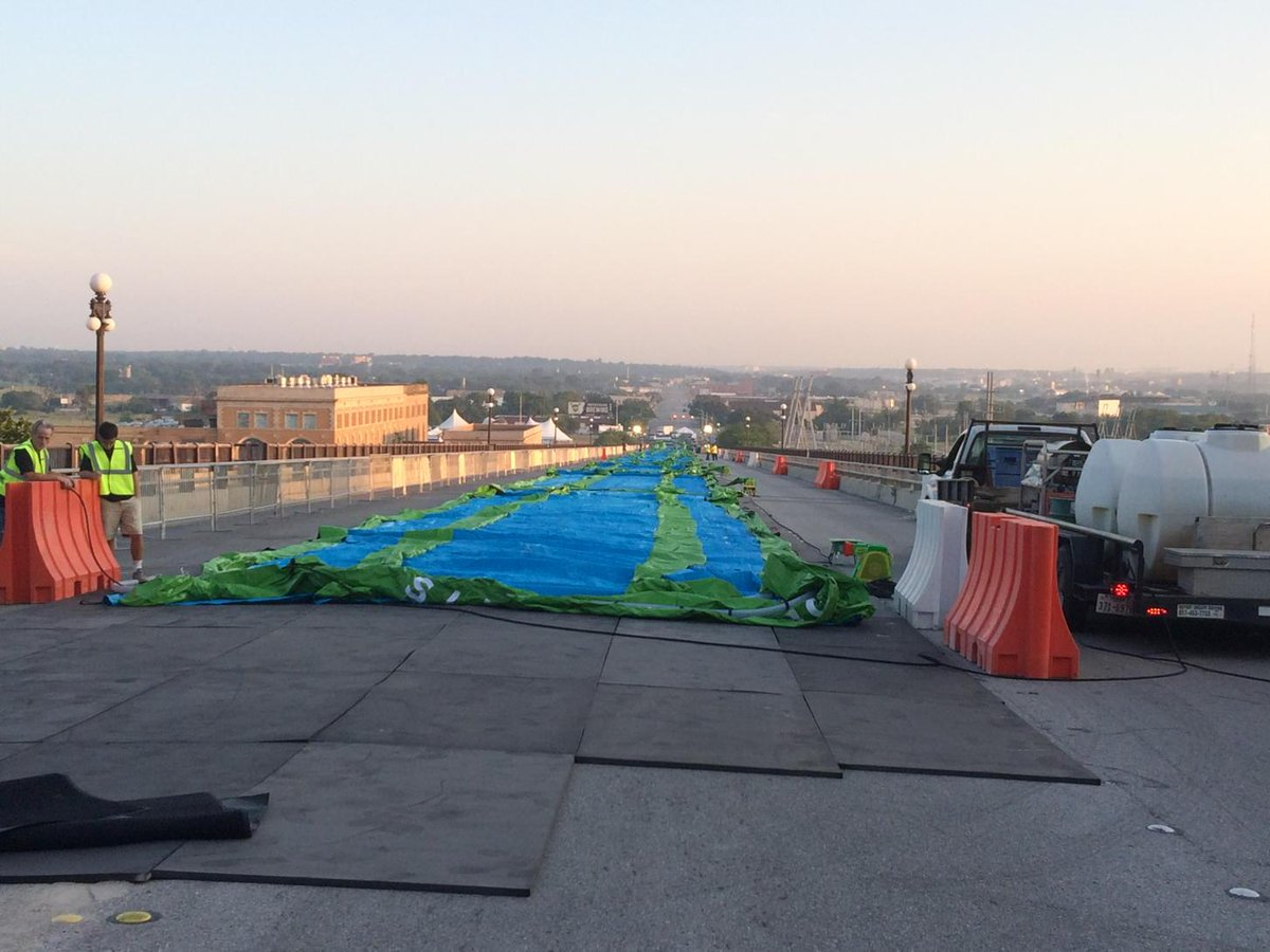 GIANT slip-n-slide about to be inflated for Fort Worth's Pantherfest! @NBCDFW http://t.co/58SghqO0I8