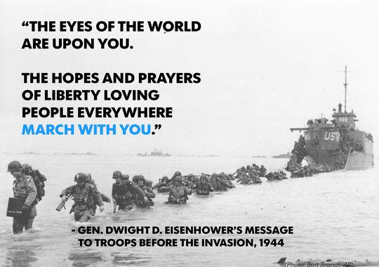 Today is the 71st anniversary of #DDay. May we reflect on the sacrifices of those who stormed the beaches that day. http://t.co/x9HXINnoHa