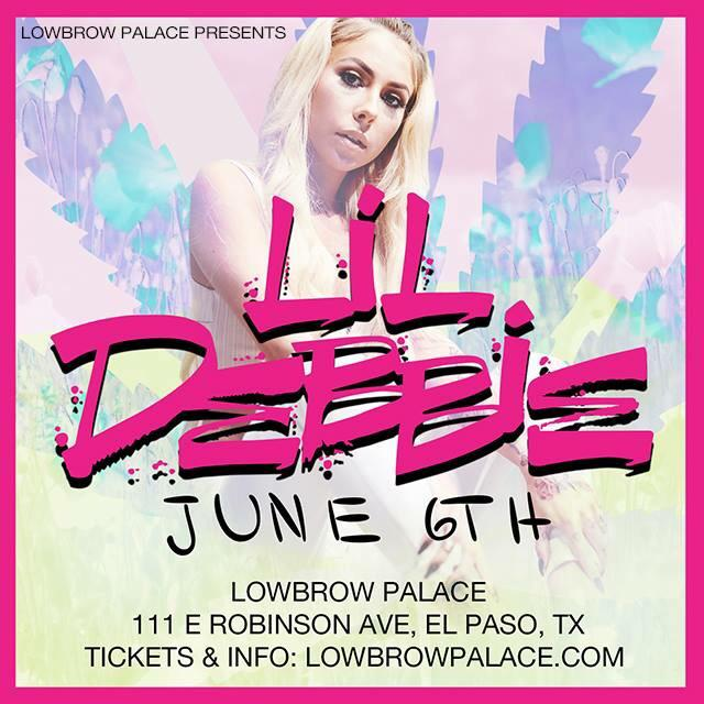 TONIGHT! @L1LDebbie + @lowbrowelpaso. Time to get turnt!  Tix @ door & still online. -> https://t.co/Nf5yYQsHN9 http://t.co/dF3Feqb4Nc