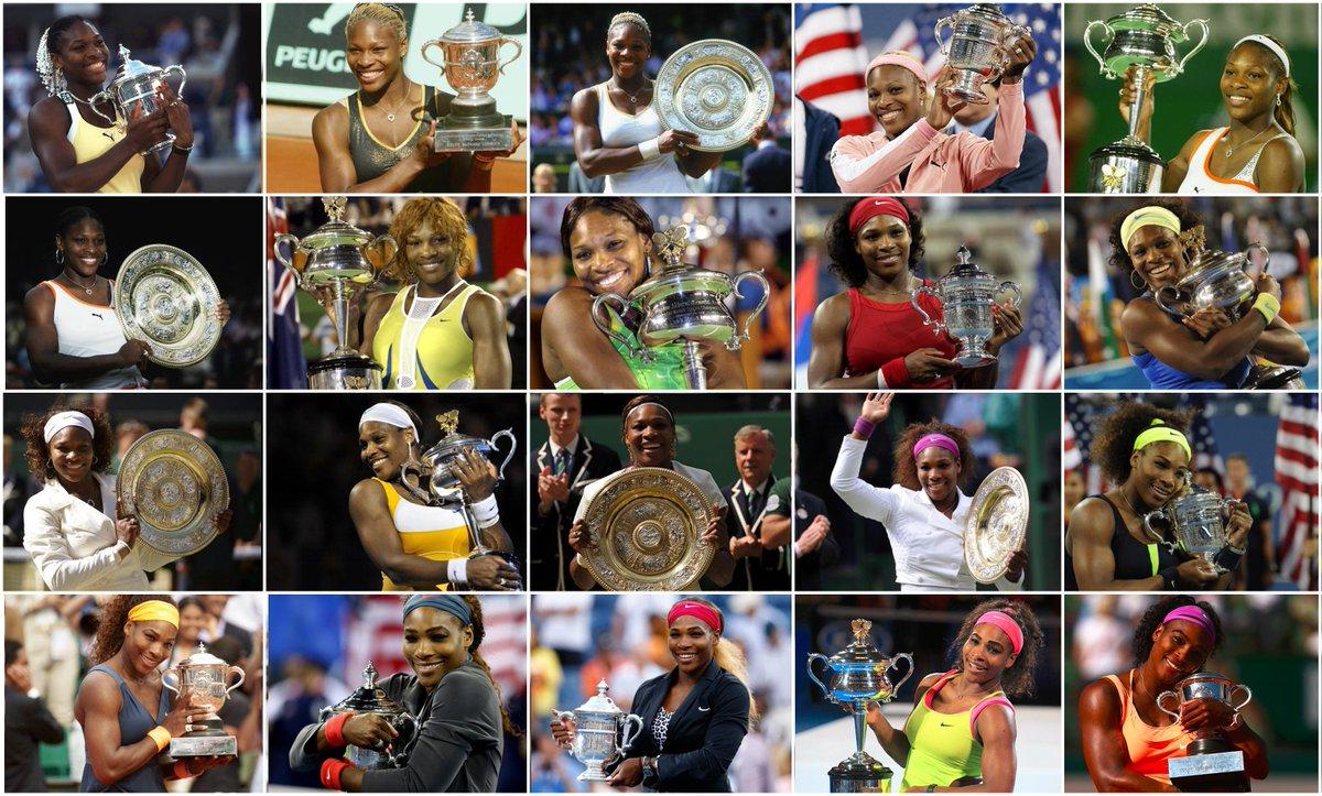 .@SerenaWilliams 20 Grand Slams-> http://t.co/PGfGOPn6ZX 6x @AustralianOpen 3x @RolandGarros 5x @Wimbledon 6x @USOpen http://t.co/NJYwubxG1s