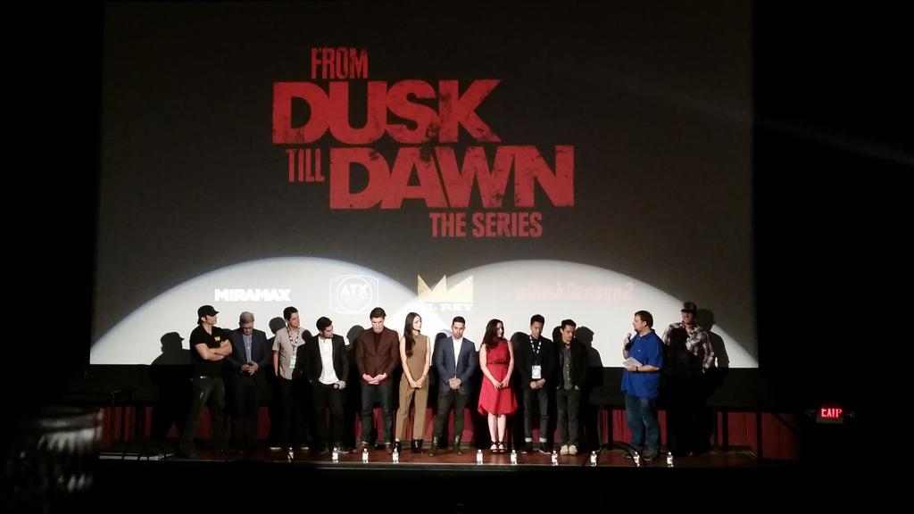 the entire cast of From Dusk Till Dawn is here it's kinda crazy #atxfestival #ATXTVS4 http://t.co/xIqGsFg0KF