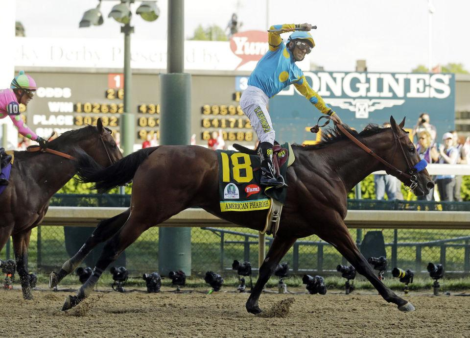 Congratulations to #AmericanPharoah on becoming the new #TripleCrown Champion at the #BelmontStakes! http://t.co/UcQ9yZXGC0