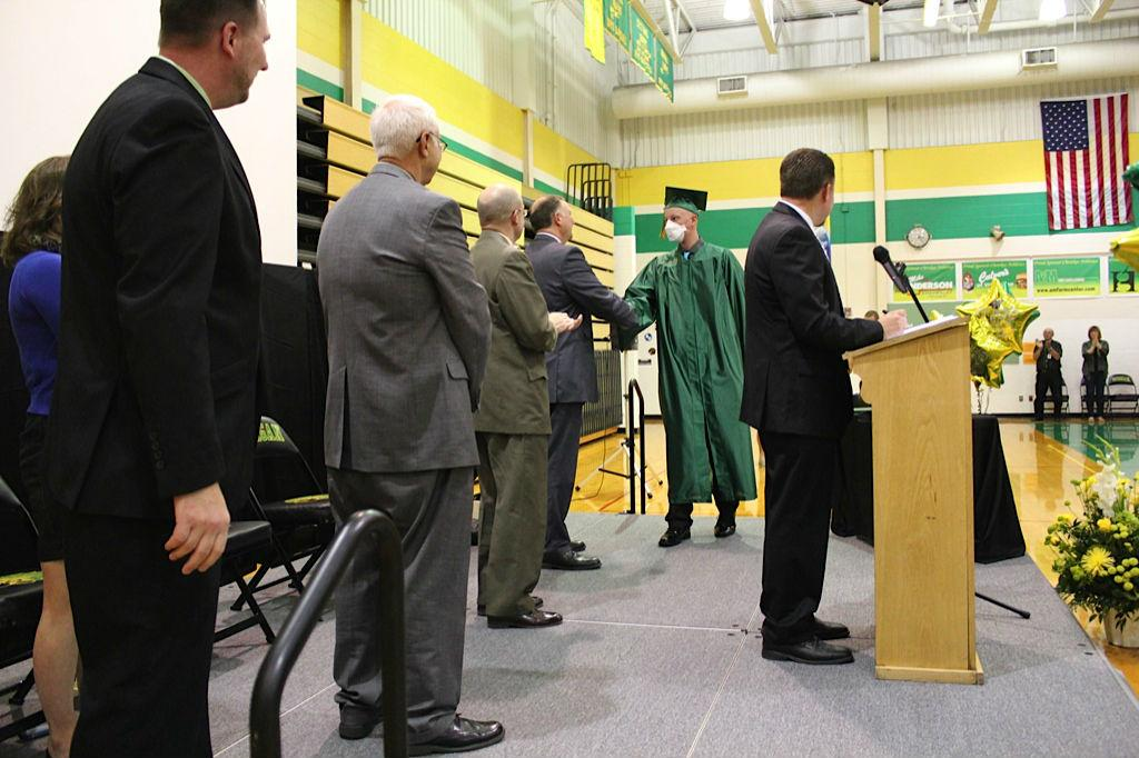 A very special moment happened at Morgan Township graduation today. http://t.co/TFZp7hZEOQ http://t.co/Zva0D9fJK6