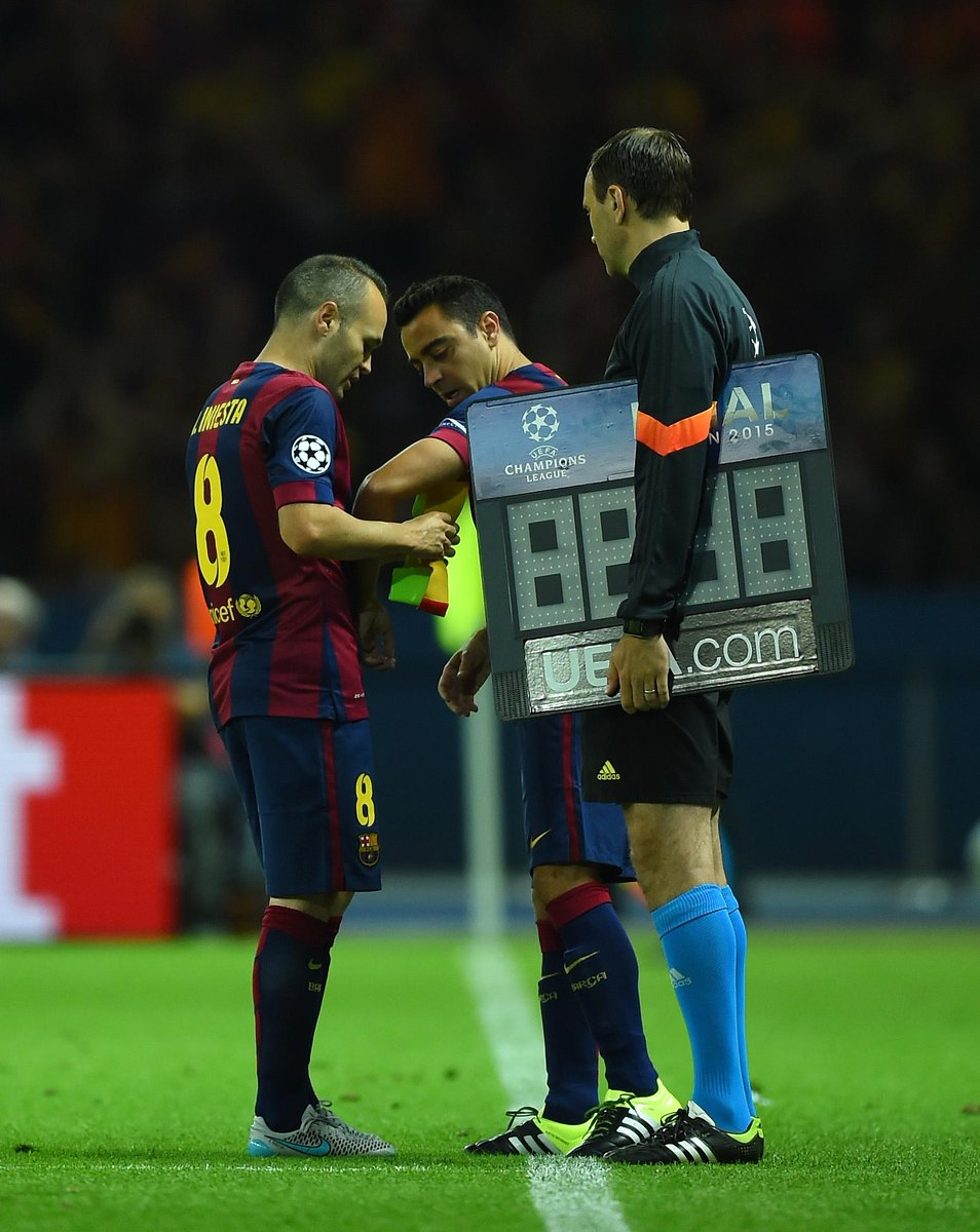STAT: Xavi makes his 151st and last #UCL appearance, making more appearances in the comp. than any other player. http://t.co/dJtG6X0Hki