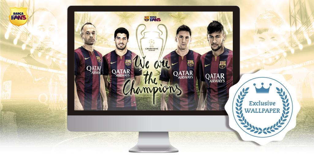 RT @FCBarcelona: [WALLPAPER] Celebrate that we're European champions with this commemorative Wallpaper!