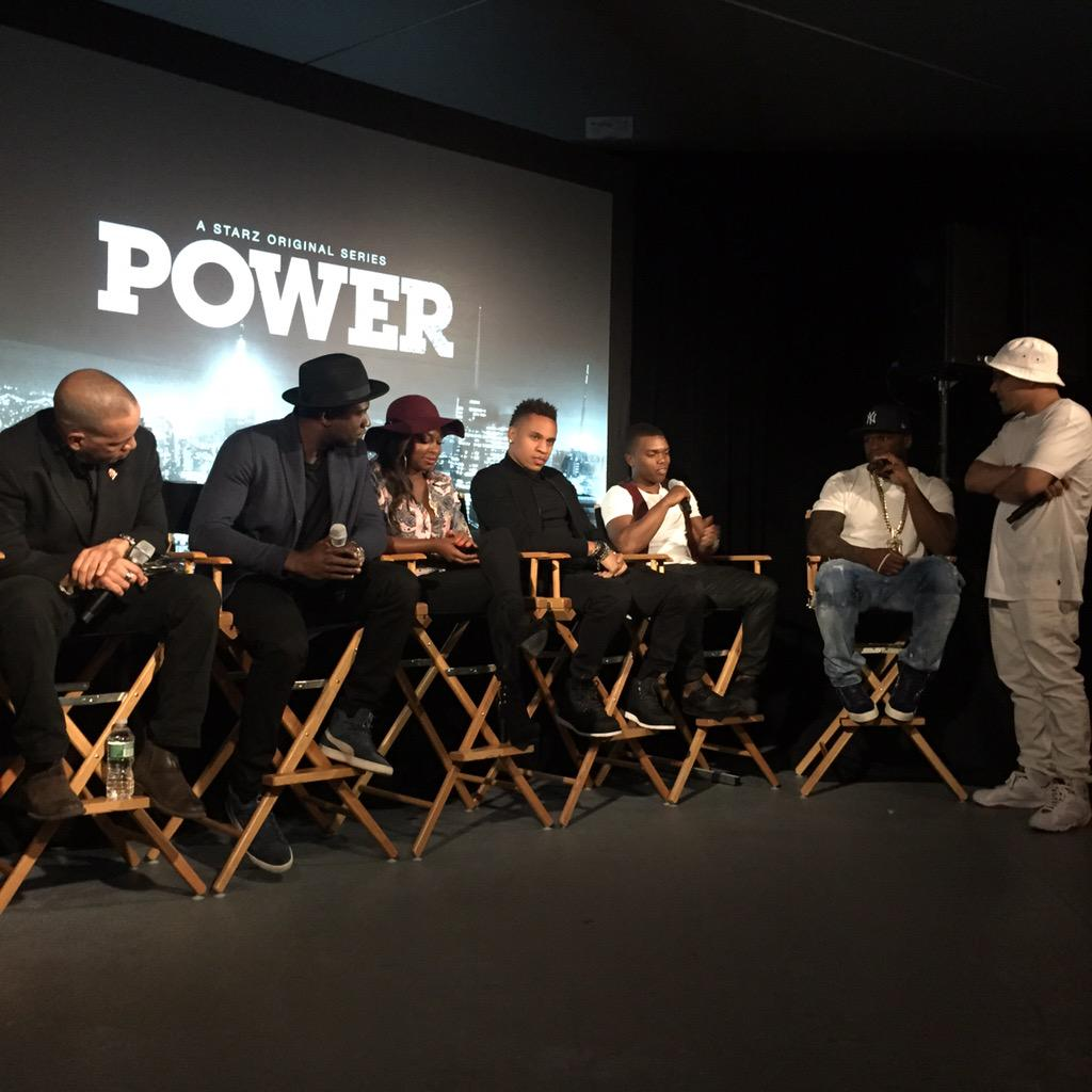 LA MARINA.Talk with the cast. hope you caught the PREMIERE of POWER.crazy right? #SMSAUDIO #EFFENVOFKA http://t.co/dK5ms50jOP
