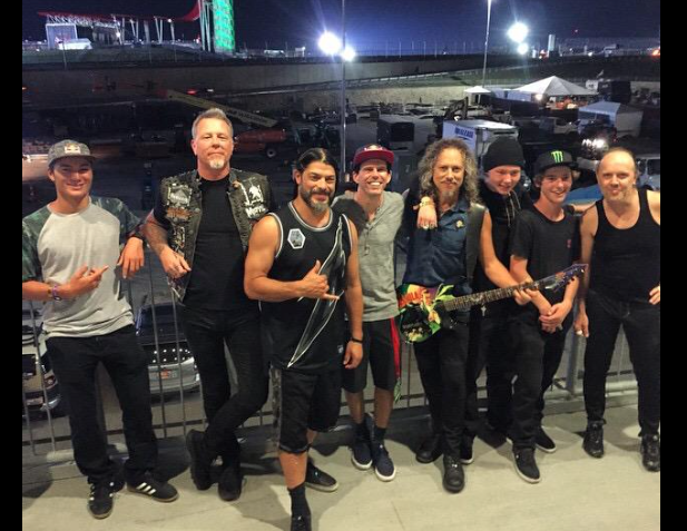 - @Metallica & @XGames Best musical performance at X yet. photo @tomschaar w @Danieldhers @tonyhawk @AlexSorgenteSK8 http://t.co/fNH3mFEiVs