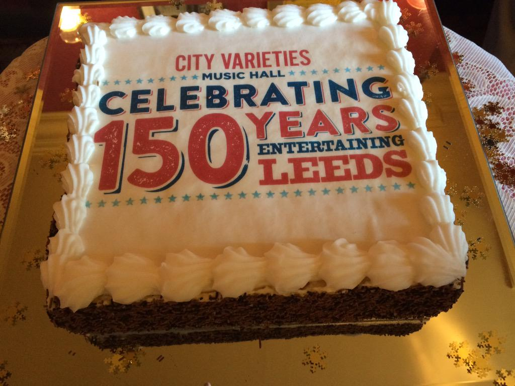 Ready for the cake cutting ceremony #150CVMH @CityVarieties http://t.co/Bnj2H1lJuh