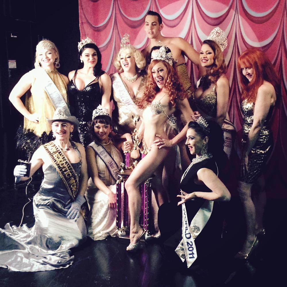 The fabulous Queen's & King's of Burlesque ❤️ Congrats our Reigning Queen of Burlesque 2015 @trixielittle