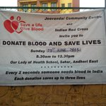 RT @BloodDonorsIn: #Mumbai Blood donation camp - Every two seconds, someone needs blood in India; each donation saves up to 3 lives. http:/…