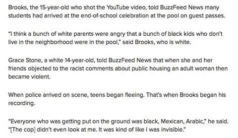 """""""A bunch of white parents were angry that black kids who don't live in the neighborhood were in the pool"""" -#McKinney http://t.co/S5MYV7drF4"""