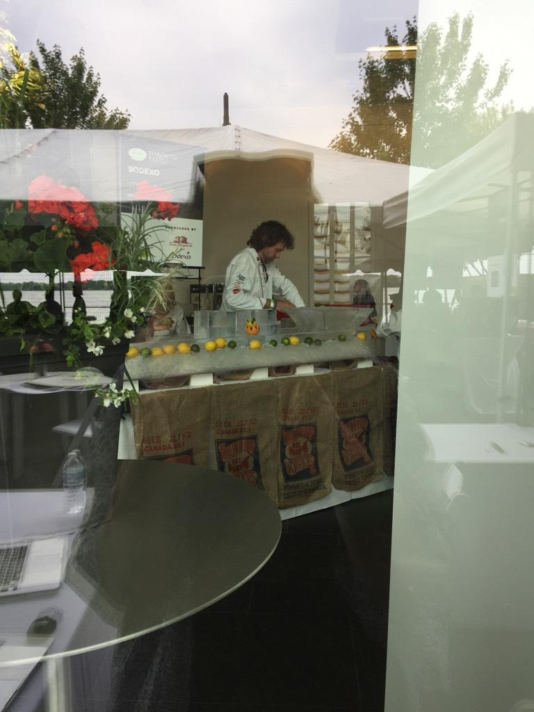 Current status: creeping on @ChefMichaelSmth as he sets up for #torontotaste http://t.co/XxblJXwxgu