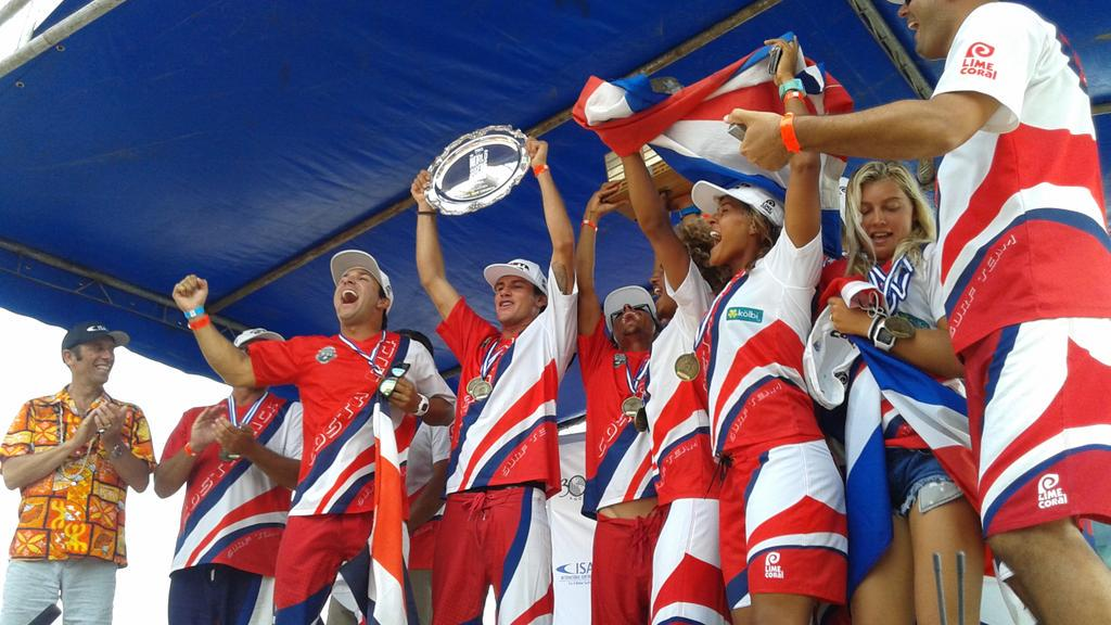 Team Costa Rica is the 2015 ISA World Surfing Games Team Champion! http://t.co/HkoQ7hweFc