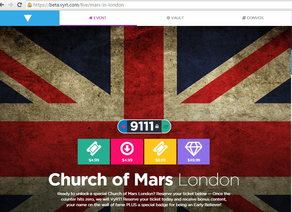 RT @conny_mazza: TIx are Going Down get yours NOW for #ChurchofMarsinLondon  https://t.co/98J6cdnwv2 @VyRT @JaredLeto @ShannonLeto http://t…