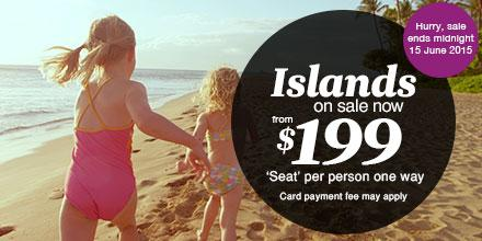 Swap blankets for beach towels. Islands on sale now!