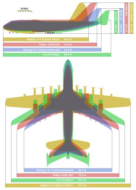 """Cool graphic of the world's largest #aircraft, including the H-4, """"Spruce Goose."""" #avgeek http://t.co/itWsULZsaW"""