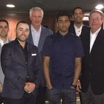 GM Mitch Kupchak and the basketball ops department met with draft prospect D'Angelo Russell over dinner tonight.