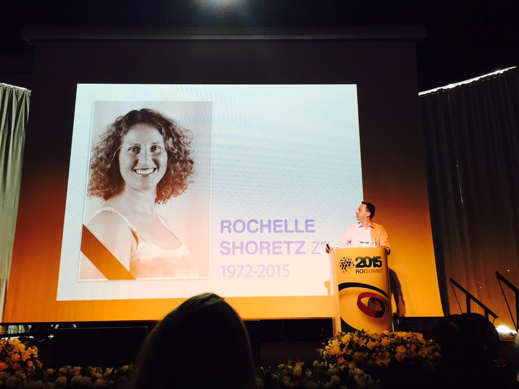 """Remembering @Sharsheret founder and #ROIcom member Rochelle Shoretz, z""""l. May her memory always inspire us. http://t.co/OpIDn0zDTm"""