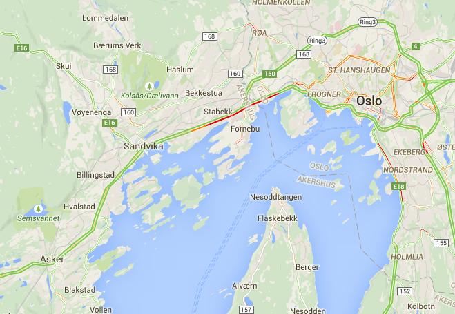 Grønt fra Asker til Høvik og hele Ring 3. Så flinke dere er! Kan vi skrinlegge 8 felts #E18 nå? http://t.co/9jP1UK6Ess