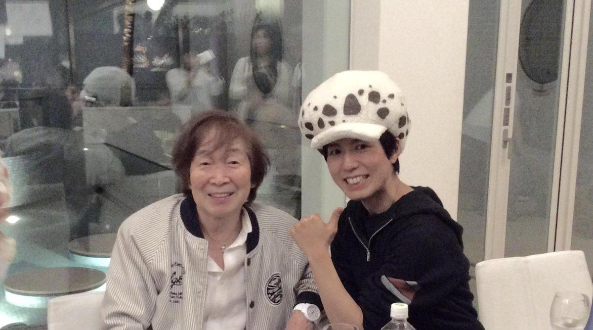 神谷浩史さんとの初の2 ショット!「しろくまカフェ」以来かなあ……僕はこの時点でヘロヘロでしたが、ローの爽やか笑顔、イイね