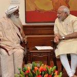Had a great meeting with Sadhguru Jaggi Vasudev. http://t.co/DrhQEEE77x