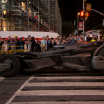 Batmobile spotted on Yonge St. last night during the filming of #SuicideSquad. Courtesy of @BenRoffelsen. #Toronto http://t.co/NTy60woVBd